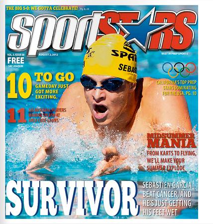 SportStars Magazine Cover athlete swimmer and cancer survivor Sebastien Garcia competes at the Junior Olympics